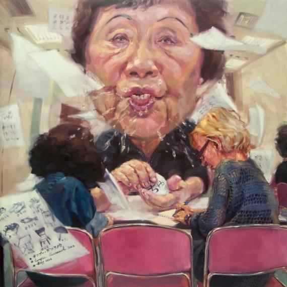 ちゅ(Chu), Oil in canvas, 200x200 cm.