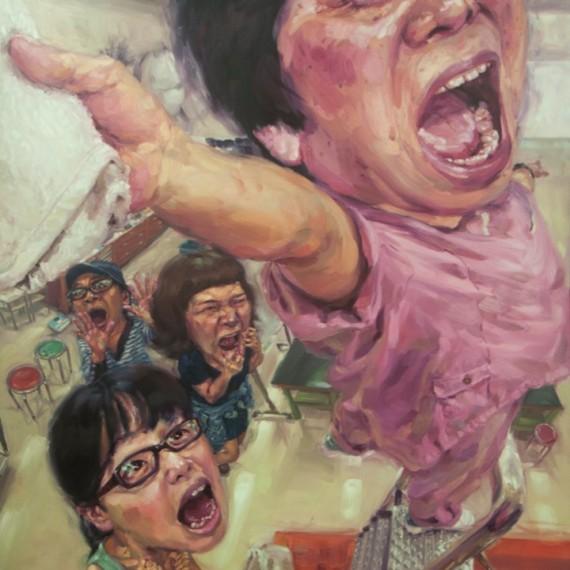 แม่บ้านที่แสนขยัน, (The Diligent Cleaner), Oil on canvas, 200x300cm.