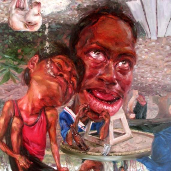 หยาดเยิ้ม (Juicy), Oil on Canvas, 200x230 cm.