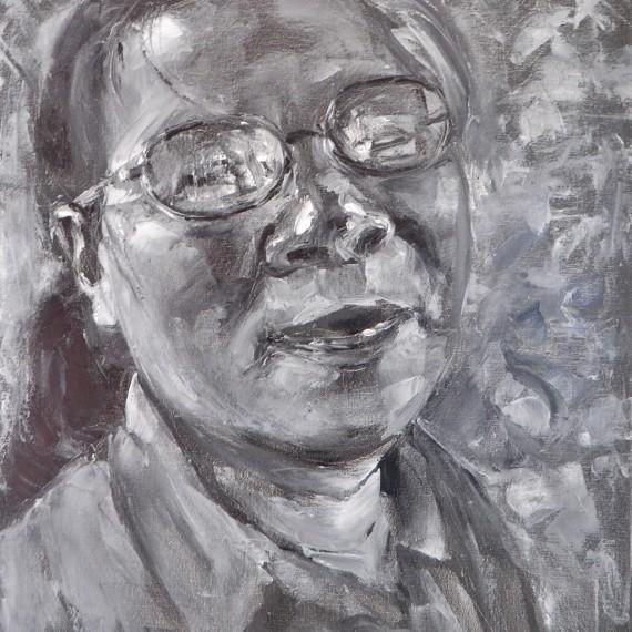 แม่ (My Mom), Oil on Canvas, 60x80 cm.