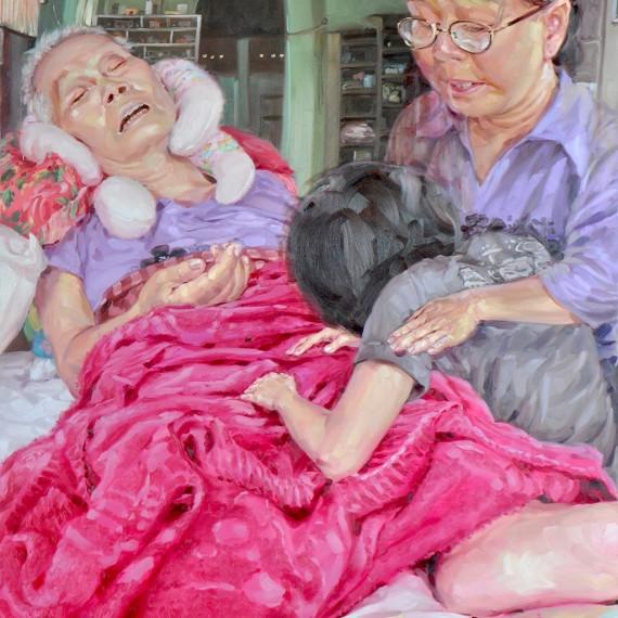 แม่ไม่ต้องร้องไห้ (Not to Cry,Mom), Oil on Canvas, 170x190 cm.