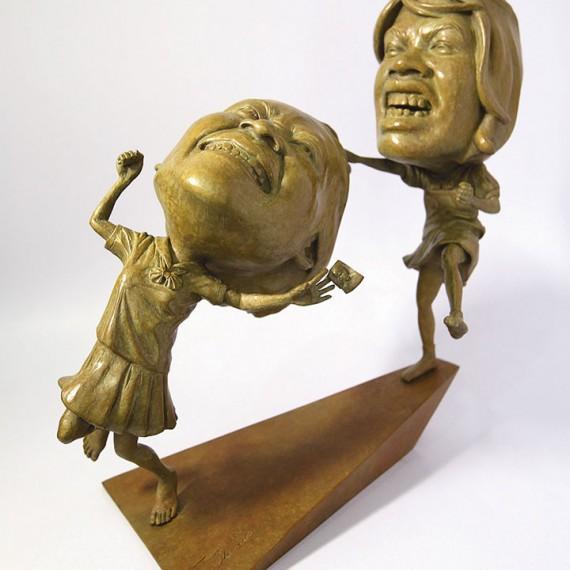 ฉันหวง ฉันหวง... ฉันมาทวงของฉันคืน, (Bring Back my Boy.He's mine), Bronze, 16x42x19 cm.