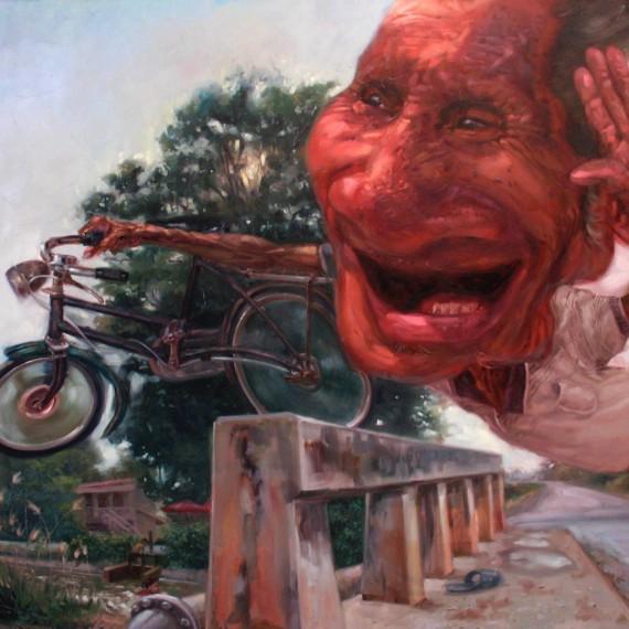 ชีวิตที่ผาดโผน (Still Fearless), Oil on Canvas, 200x230 cm.