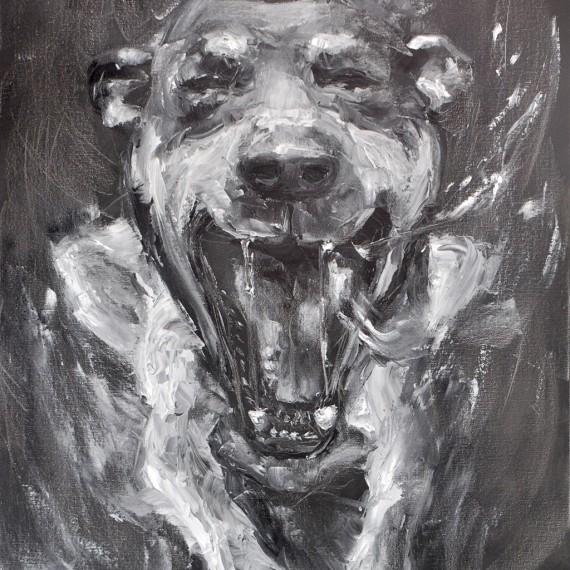 ยิ้มหวาน (Big Smiling), Oil on Canvas, 60x80 cm.