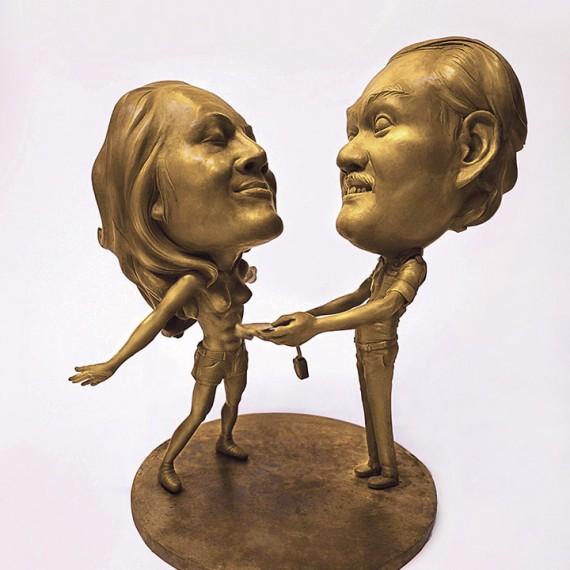 ตกใจหมดเลย, (Oh My Goodness!), Bronze, 38x26x32 cm.