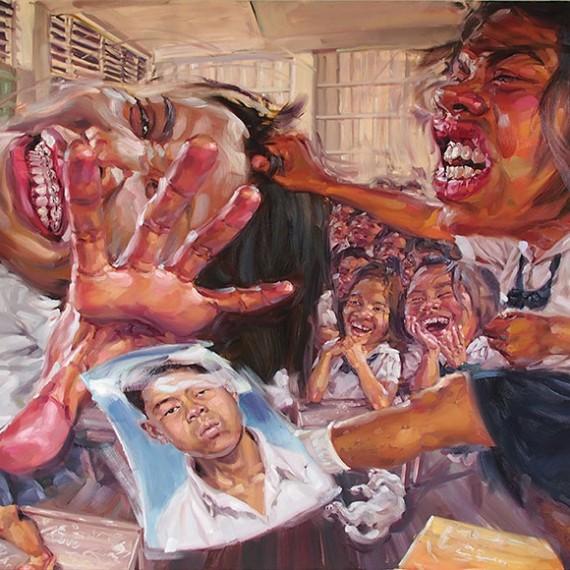 ฉันหวง ฉันหวง... ฉันมาทวงของฉันคืน, (Bring Back my Boy.He's mine), Oil on canvas, 200x250 cm.