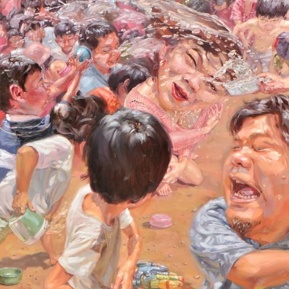ฆ่าฉันฆ่าฉัน ให้ตายดีกว่า (Better Kill me) : Oil on Canvas, 180x200 cm.