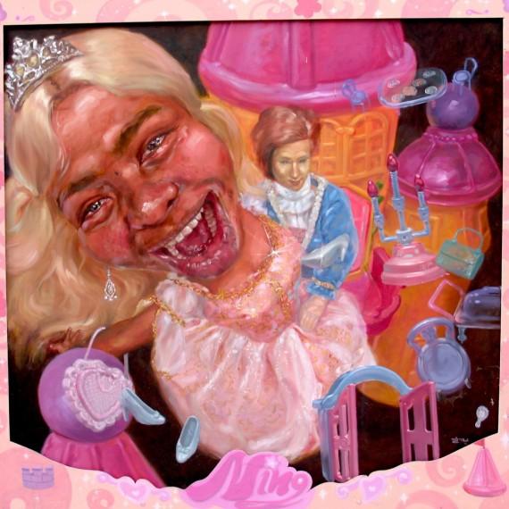 ความฝันของคะนิ้ง (Kaning's Dream), Oil on Canvas, 210x220 cm.