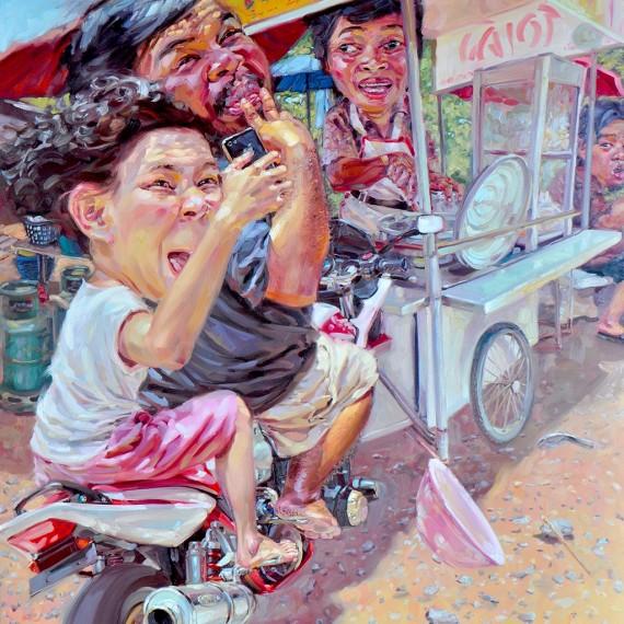 1 2 3 !!, Oil on Canvas, 170x190 cm.