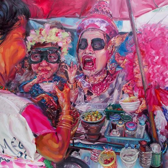 ก็คนมันแรง, (We are hot!), Oil on canvas, 200x300 cm.