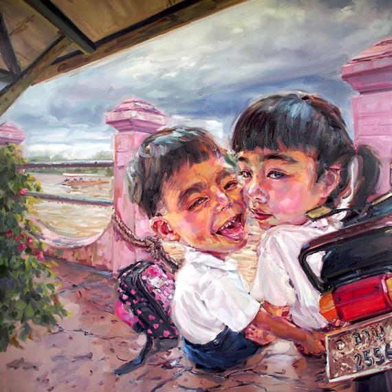 วัยว้าวุ่น, (Hormones), Oil on canvas, 200x200 cm.
