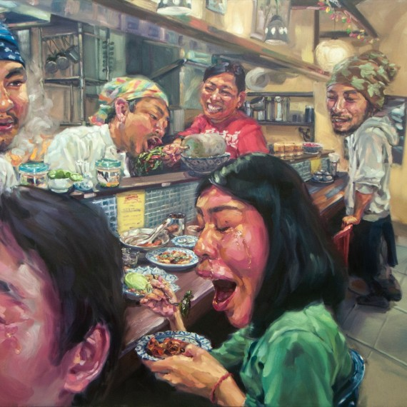เผ็ดที่สุดในโลก, The most Spicy in the world' , Oil on canvas, 200x300cm.