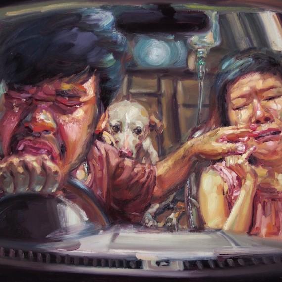 นาทีสุดท้ายของม้าลาย, (My beloved sadness), oil on canvas, 100x150 cm.
