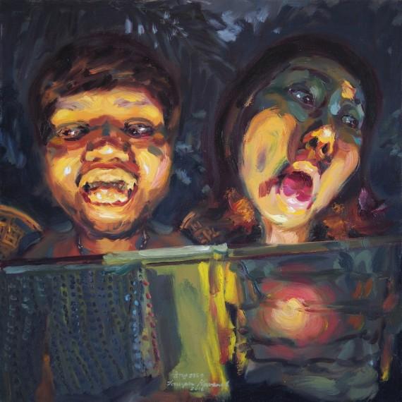 ยัยสือวุ่นวายกับเจ้าชายหัง, (My beloved evil spirit), oil on canvas, 50x50 cm.