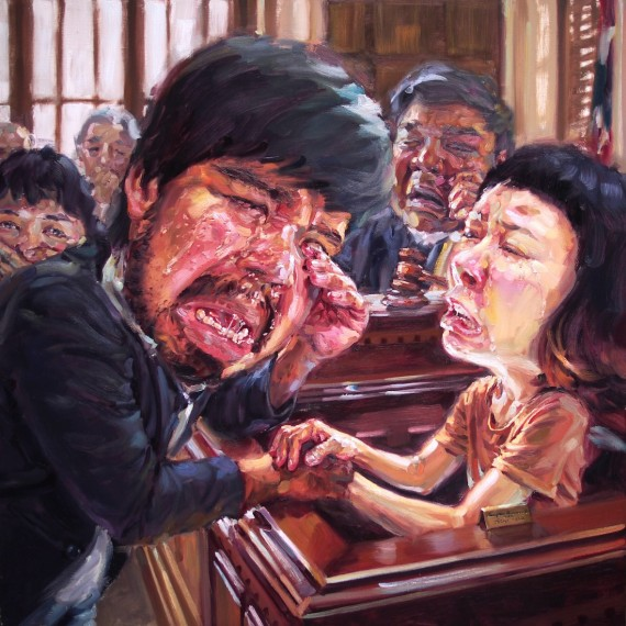 จำเลยรัก, (My beloved lawyer), , oil on canvas, 150x150 cm.