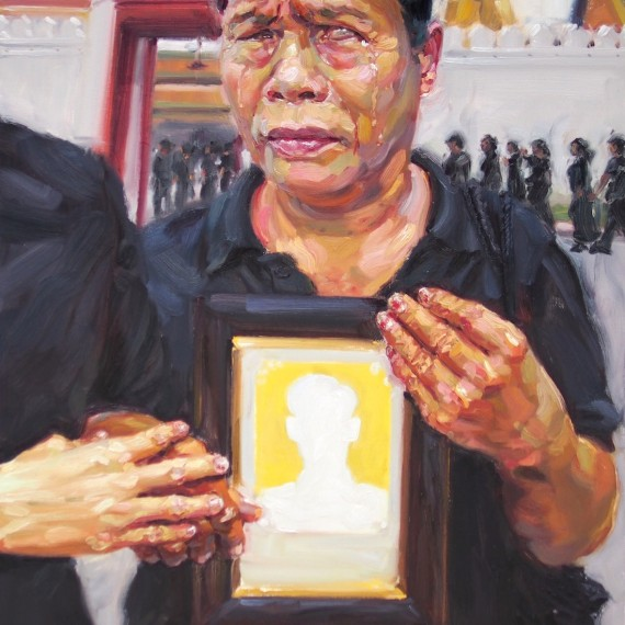 แสงเทียน, (Candlelight Blues), oil on canvas, 100x150cm.