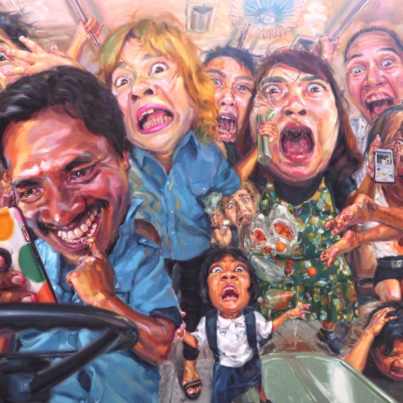 เมย์นรก (The Fast), oil on linen, 280x400 cm.