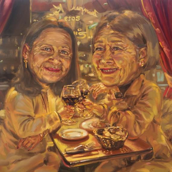 ราตรีนี้ยังอีกแสนไกล (Midnight in Paris), oil on linen, 100×100 cm.